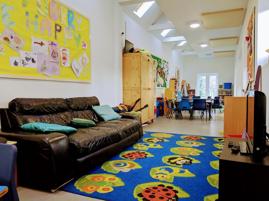 Adaptable play area, equipped with TV, Wii, pool table, football table and wide range of toys and books