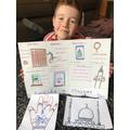 Henry's inside a mosque work.
