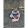 Jack pretending to read :0)