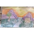 Oliver's fantastic landscape artwork.