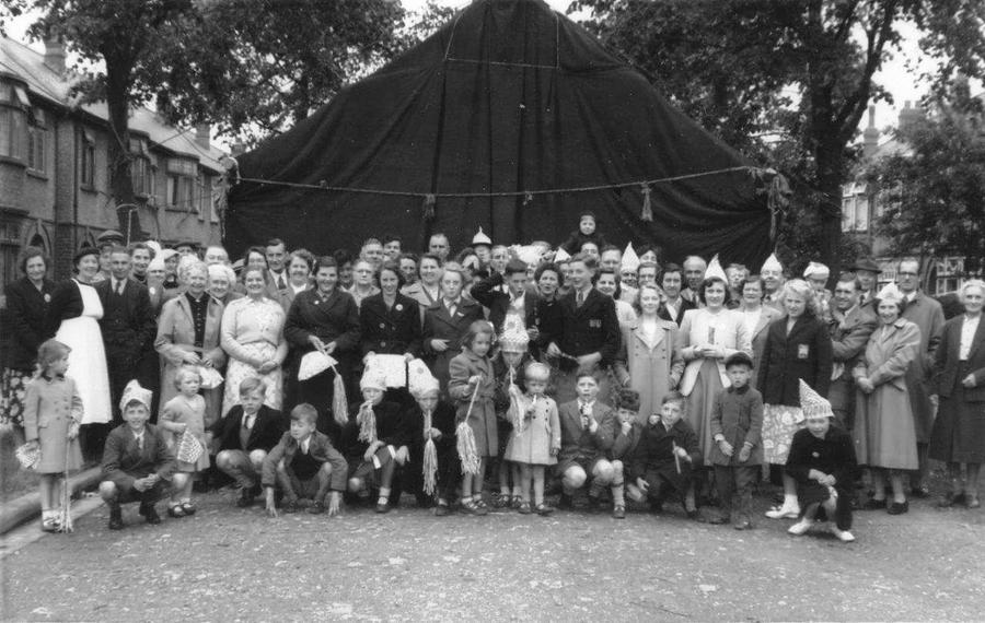 Abbotts Way on Coronation Day 1953