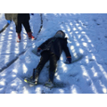 Fun in the snow this term! We made marks!