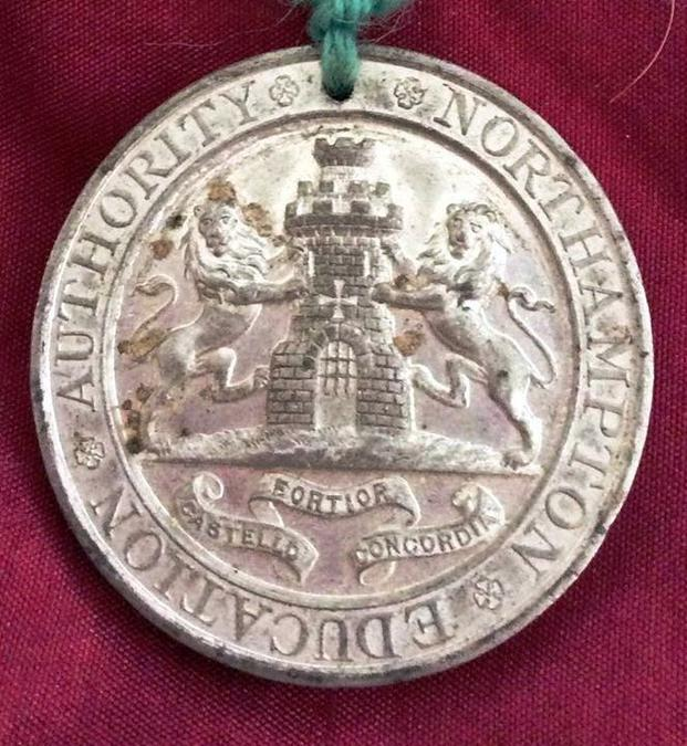 Medal presented shown by Janet Anderson