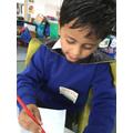 Superhero writing!