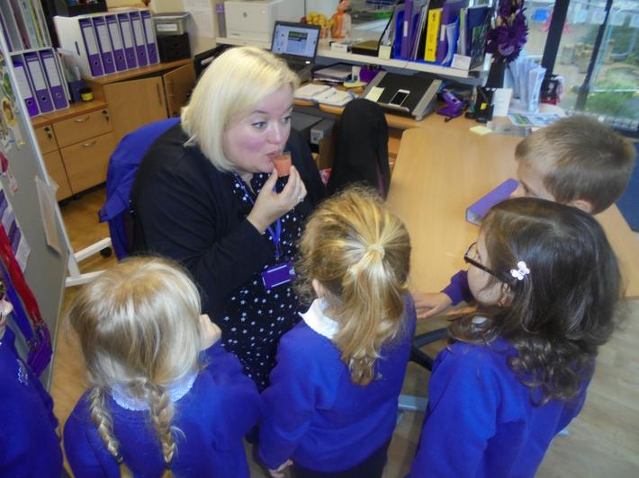 Mrs Stevens shared our food tasting experience