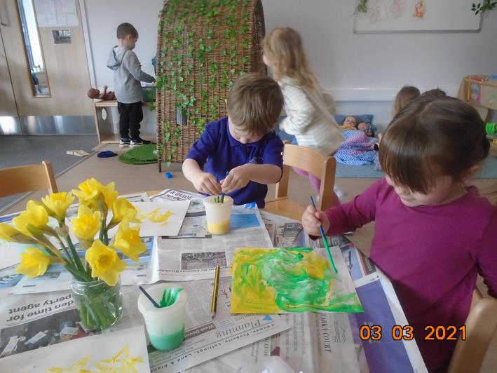 We looked closely at signs of spring.