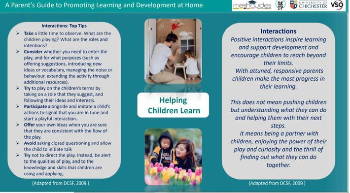 Top tips for learning at home.