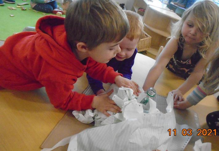 We made a volcano -