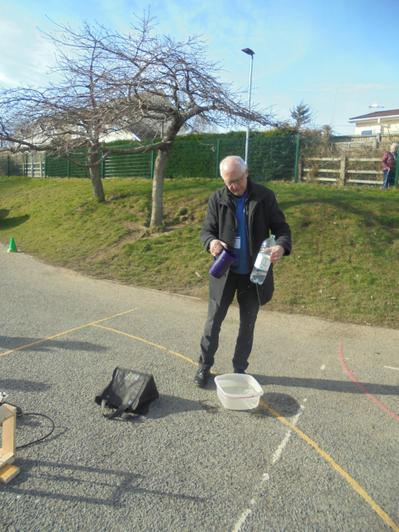 Reverend Stephen Cook kindly demonstrated a launch
