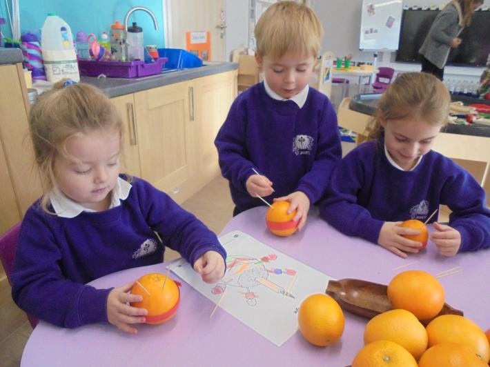 We enjoyed learning all about Christingle.