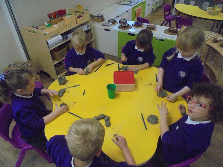 We made rangoli patterns using icing.
