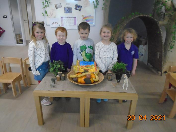 We learnt about new fruits, and the animals who took them!