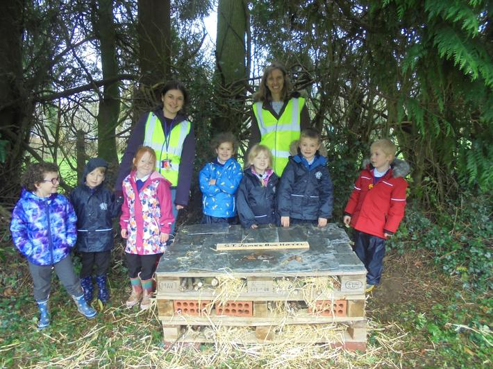 We were proud of our Bug Hotels.