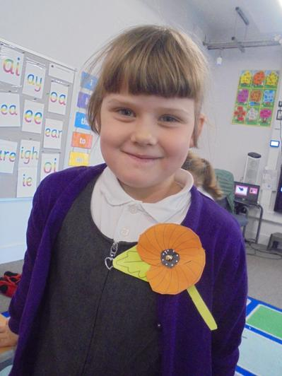 We made our own poppies to help us remember