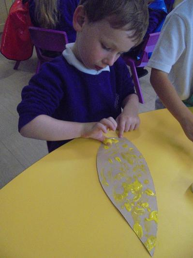 The children enjoyed participating in messy crafts