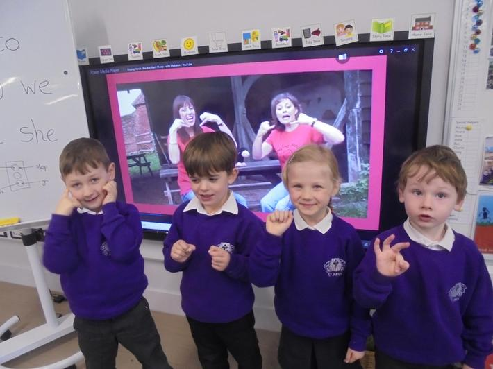 We learnt Makaton signs for Baa Baa Black Sheep.