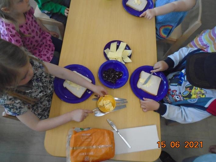 We made sandwiches for our picnic.