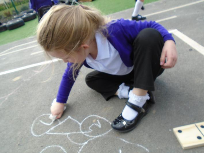 We enjoy maths outdoors.