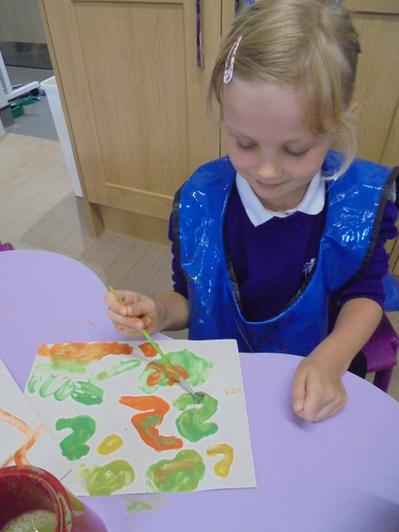 We enjoy painting different sounds too!