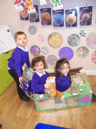 The children have enjoyed learning about space.