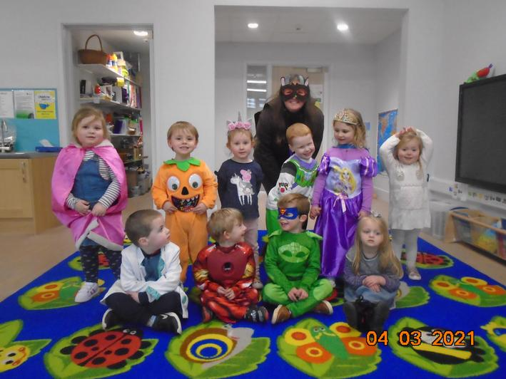 We enjoyed dressing up for Red Nose Day.