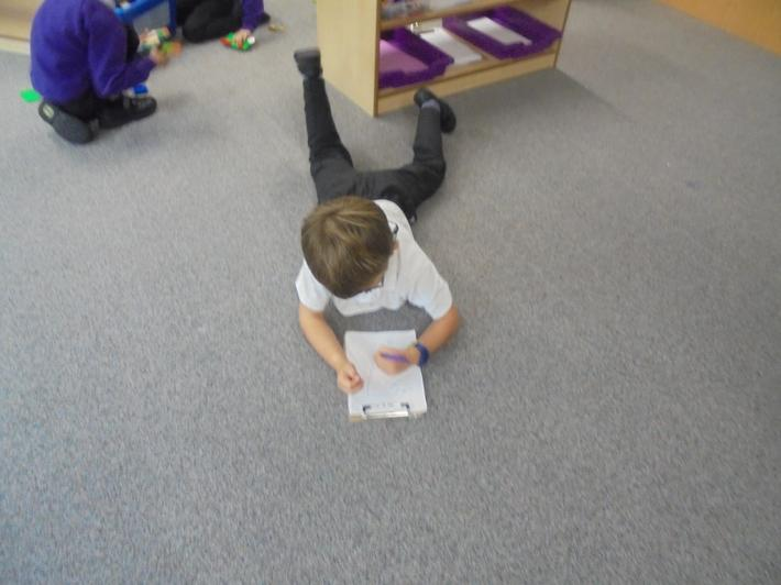 Practising phonics anywhere we can!