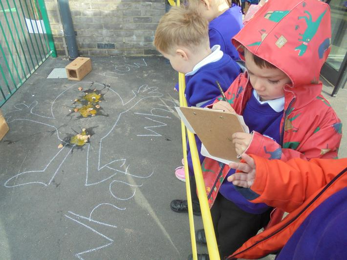 The children recorded their findings.