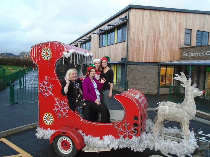 What a surprise, a sleigh outside!