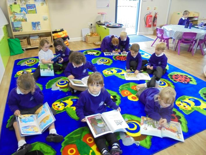 We enjoy exploring a range of books.