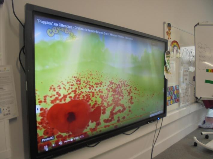 We learnt about Remembrance Day