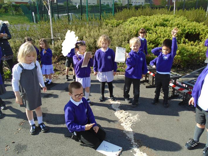 We searched for clues and recorded our findings.The children think that Chitty has crashed
