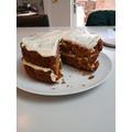 Eden's carrot cake, Yum! Yum!