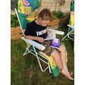 Jack reading for pleasure