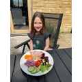 Suzie took on the rainbow eating challenge