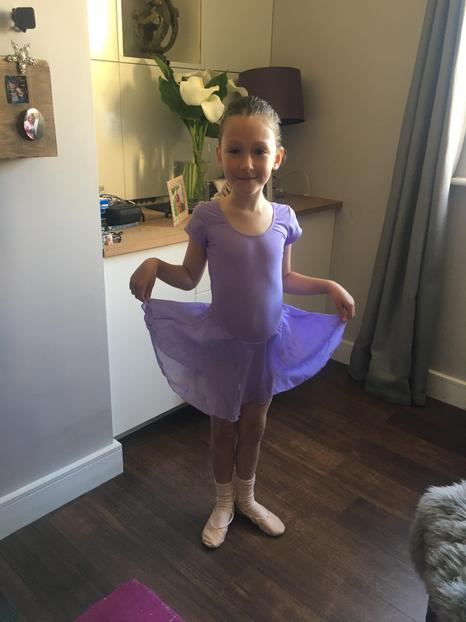 Suzie in her ballet outfit