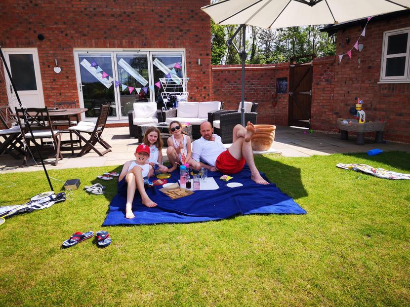 Eden's family enjoying VE day in the sun