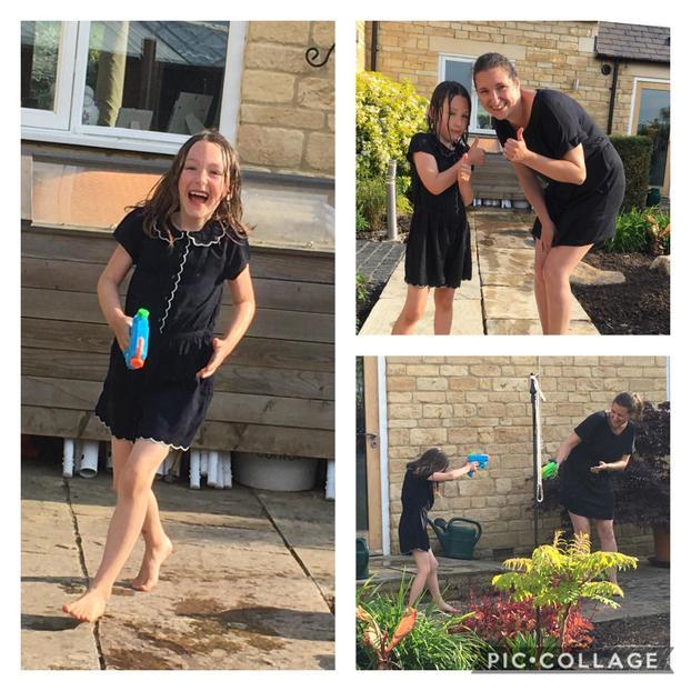 Suzie had a water fight!