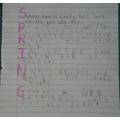 A super spring poem by Oscar