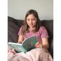 Issy enjoying a read