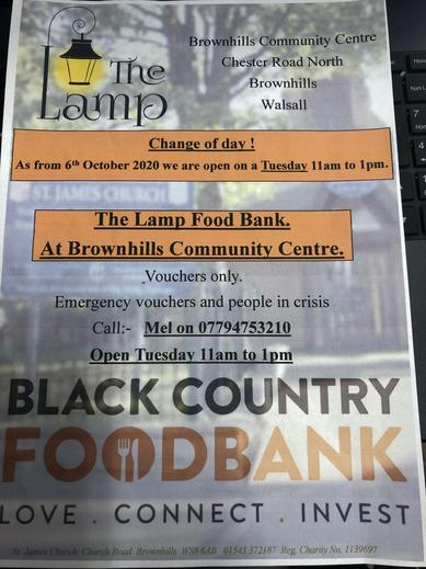 Please see the new food bank times if needed. See Mr Cook for information.