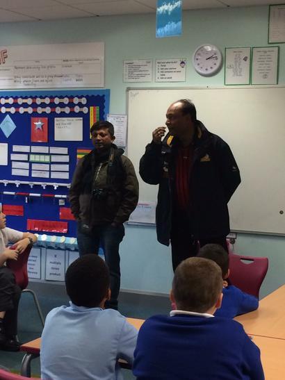 Mr Emmanuel & Mr Sarkar answering some questions