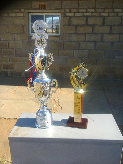 The choir have recently won these trophies.