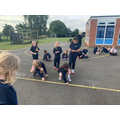 Year 3 take maths to the playground!