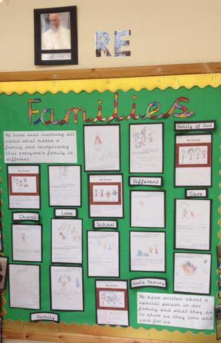 Lovely writing from Y1 children about their families.