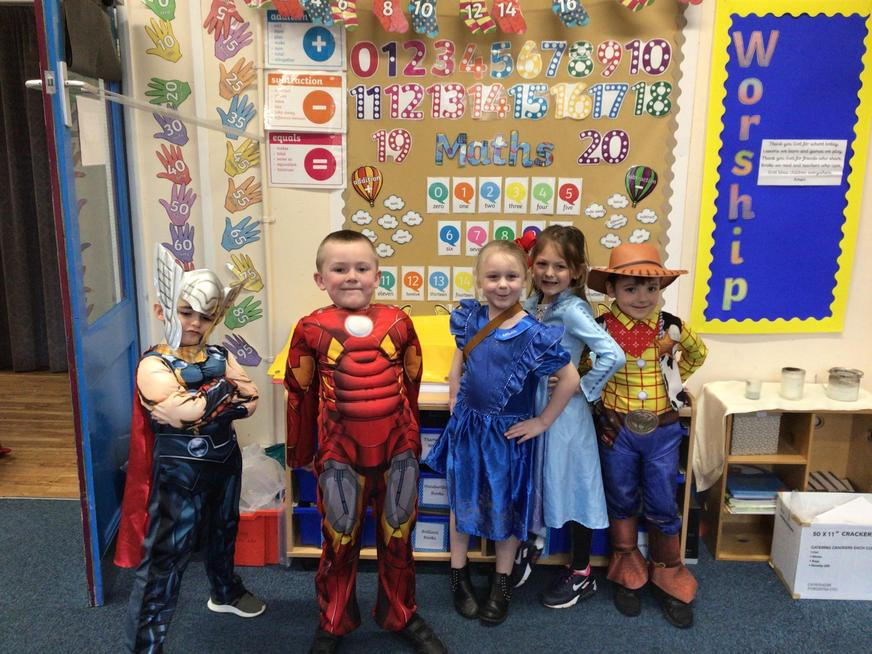 We all celebrated World Book Day.