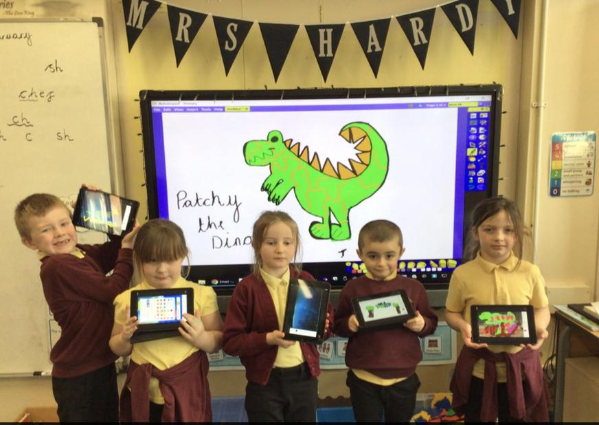 We learnt how to draw dinosaurs.