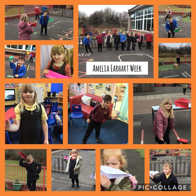 We have learned about Amelia Earhart and made our own paper planes.