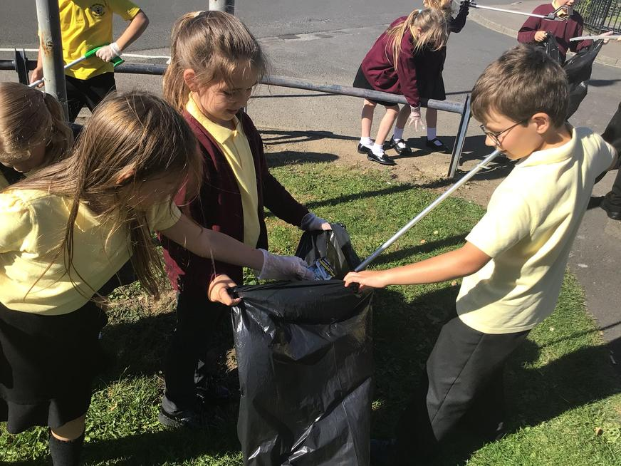 Litter picking in the community