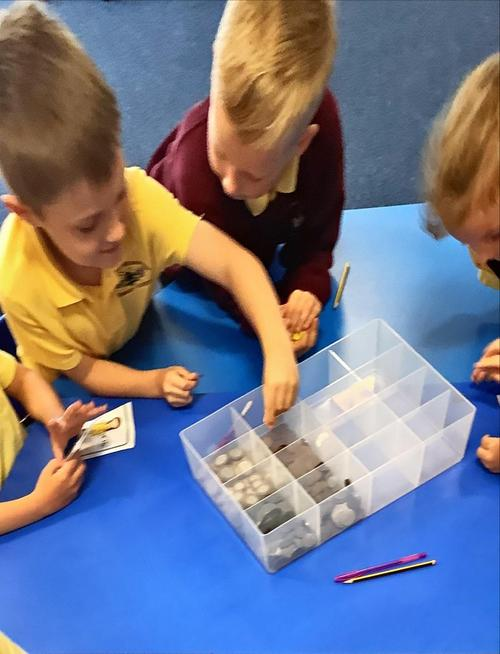 Counting money and learning about coins