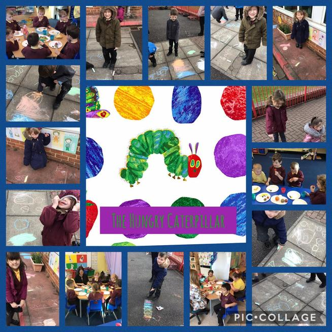 We have read the story of the Hungry Caterpillar and learned all about his life cycle.